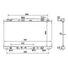 Радиатор охлаждения TOYOTA CAMRY - 210209N (AKS DASIS)