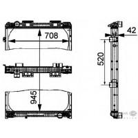 Радиатор охлаждения MAN F 2000 - 260003N (AKS DASIS)
