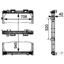 Радиатор охлаждения для МАН Ф2000