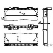 Радиатор охлаждения MAN F 2000 - 260140N (AKS DASIS)