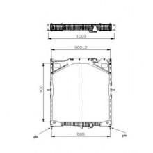 Радиатор охлаждения VOLVO FH - 280005N (AKS DASIS)