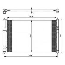 Радиатор кондиционера SUZUKI GRAND VITARA - 322019N (AKS DASIS)