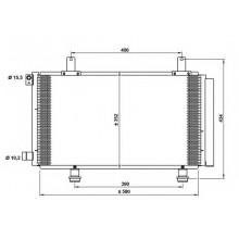 Радиатор кондиционера SUZUKI SX4 - 322022N (AKS DASIS)