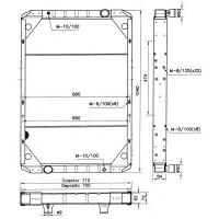 Радиатор охлаждения RENAULT MANAGER, MAXTER - 390240N (AKS DASIS)