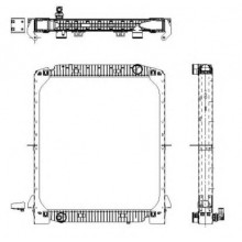 Радиатор охлаждения IVECO EUROTECH, EUROTRAKKER - 400010N (AKS DASIS)