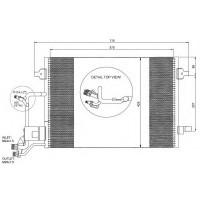 Радиатор кондиционера AUDI A4, VW PASSAT - 482020N (AKS DASIS)