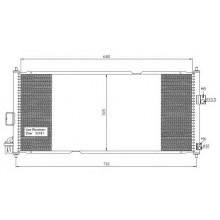 Радиатор кондиционера NISSAN ALMERA, PRIMERA - 072390N (AKS DASIS)
