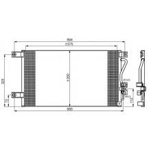 Радиатор кондиционера MITSUBISHI PAJERO, MONTERO - 142014N (AKS DASIS)