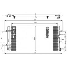 Радиатор кондиционера AUDI A4, A5, Q5 - 482018N (AKS DASIS)