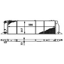 Радиатор охлаждения AUDI 80, 90 - POLCAR