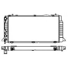 Радиатор охлаждения AUDI 80 - POLCAR