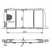 Радиатор охлаждения AUDI 80, AUDI 90 - POLCAR