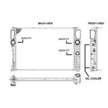 Радиатор охлаждения MERCEDES CLS C219,  E-CLASS 211 - POLCAR