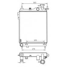 Радиатор охлаждения HYUNDAI GETZ - POLCAR