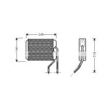 Радиатор печки DAEWOO NEXIA - POLCAR
