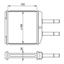 Радиатор печки для део матиз