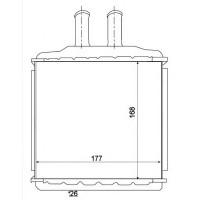 Радиатор печки CHEVROLETI,  DAEWOO - POLCAR