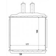 Радиатор печки для шевроле лачетти, део нубира