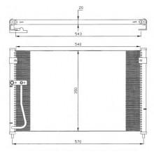 Радиатор кондиционера MAZDA 626 - POLCAR