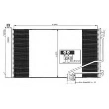 Радиатор кондиционера MERCEDES C-CLASS 203, CLK, SLK - POLCAR