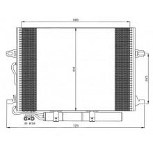 Радиатор кондиционера для MERCEDES E-CLASS 211, CLS C219 - POLCAR