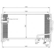 Радиатор кондиционера MAZDA 323 - POLCAR