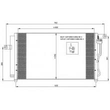 Радиатор кондиционера HYUNDAI ACCENT - HCC