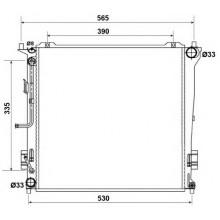 Радиатор охлаждения HYUNDAI i30 - HCC