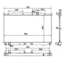 Радиатор охлаждения HYUNDAI SANTA FE - HCC