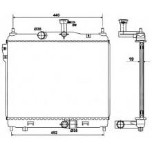 Радиатор охлаждения HYUNDAI GETZ - HCC