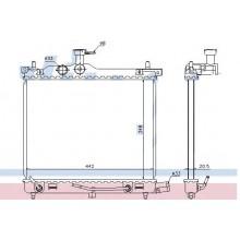Радиатор охлаждения HYUNDAI i10 - RADAUTO