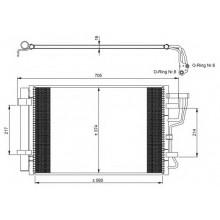 Радиатор кондиционера HYUNDAI i30, KIA CEED - HCC