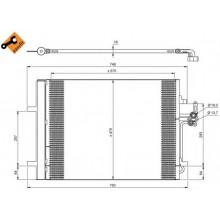 Радиатор кондиционера FORD - RADAUTO