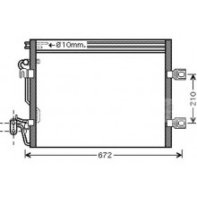 Радиатор кондиционера MERCEDES S-CLASS (W221) - RADAUTO