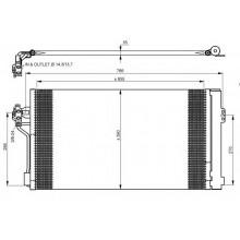 Радиатор кондиционера MERCEDES VIANO, VITO - RADAUTO