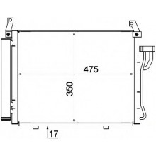 Радиатор кондиционера HYUNDAI i10 - HCC