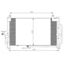 Радиатор кондиционера для део матиз