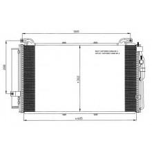 Радиатор кондиционера HYUNDAI ELANTRA, MATRIX - HCC