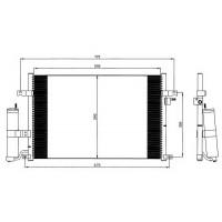 Радиатор кондиционера CHEVROLET, DAEWOO - RADAUTO