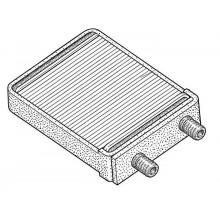 Радиатор печки для ГАЗ 3302, ГАЗ 3321, ГАЗ 2705, ГАЗ 2217, ГАЗ 33104