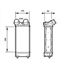 Интеркулер CITROEN, PEUGEOT - 167008N (AKS DASIS)