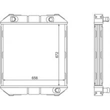 Радиатор охлаждения ЛАЗ-695, ЛАЗ-699