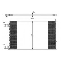 Радиатор кондиционера RENAULT KANGOO - RADAUTO