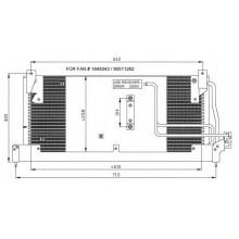 Радиатор кондиционера OPEL CORSA, COMBO - RADAUTO