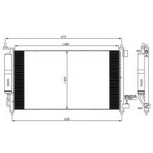 Радиатор кондиционера NISSAN - RADAUTO