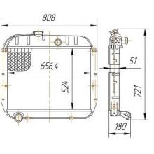 Радиатор охлаждения ЗИЛ 130