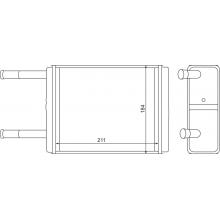 Радиатор печки для ГАЗ 3307