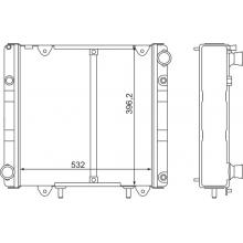 Радиатор охлаждения ГАЗ 3302 (под рамку)