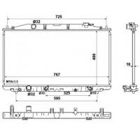 Радиатор охлаждения HONDA ACCORD 8 (KOYORAD) PL082230