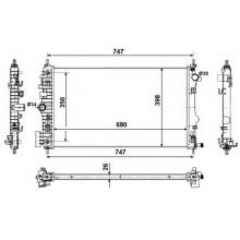 Радиатор охлаждения SAAB 9-5, OPEL INSIGNIA (KOYORAD)
